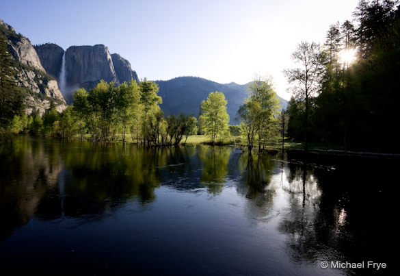 Spring morning, Yosemite Falls and the Merced River