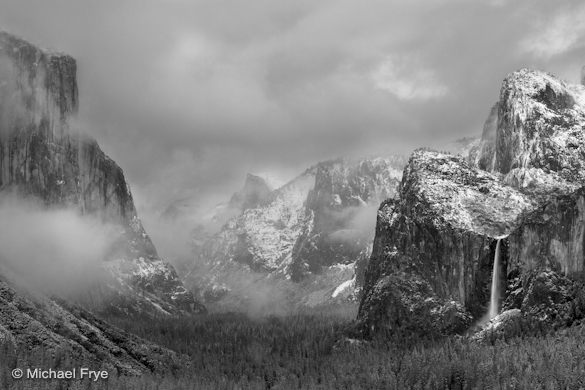 Clearing storm, Yosemite Valley