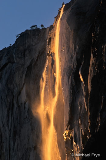 Horsetail Fall at sunset