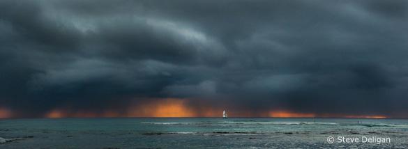 """Oahu Sunset"" by Steve Deligan"