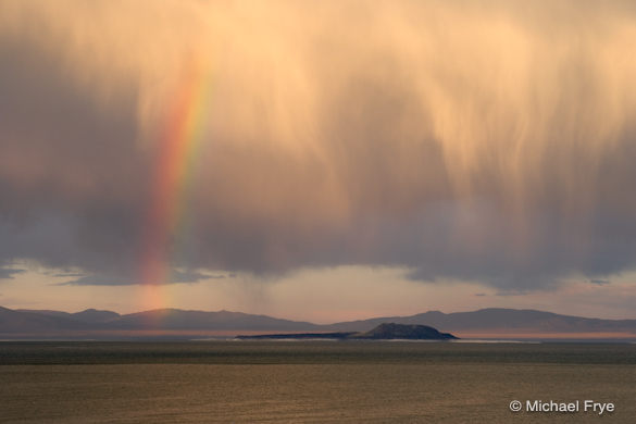Rainbow over Mono Lake, September 7, 2006