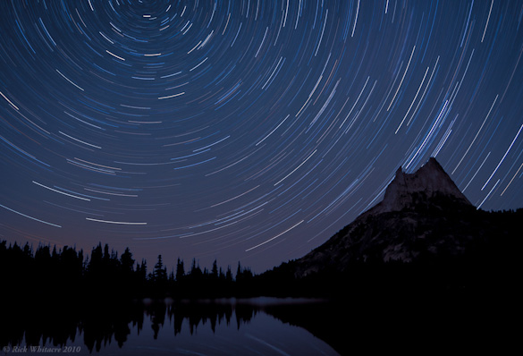 Star Trails and Cathedral Peak by Rick Whitacre