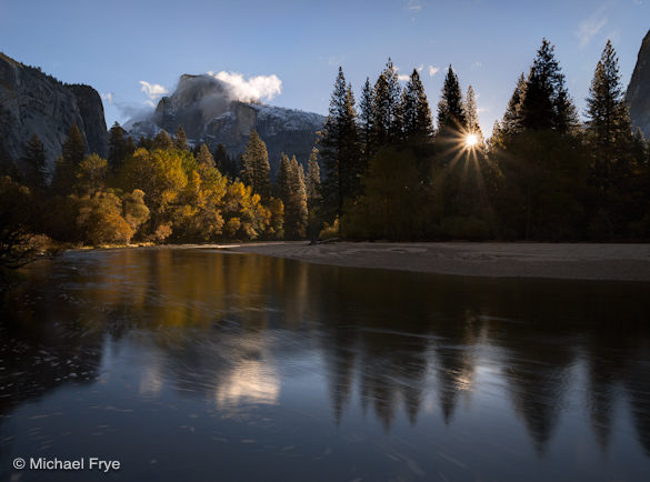 Half Dome and the Merced River, 7:41 a.m., November 8th