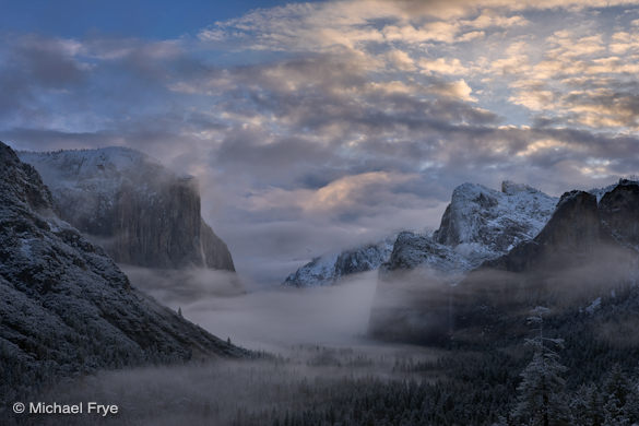 Winter sunrise from Tunnel View, February 7th, 2010