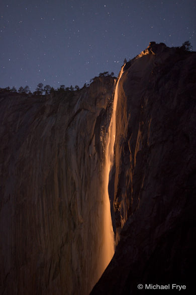 13. Horsetail Fall by moonlight