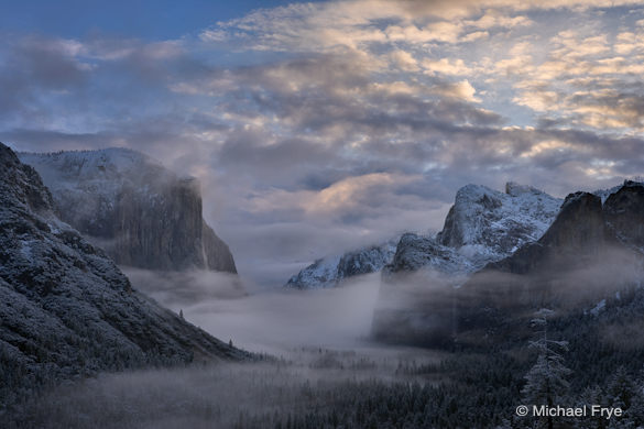 3. Winter sunrise from Tunnel View