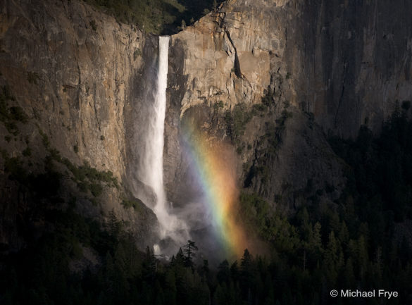 12. Bridalveil Fall and rainbow