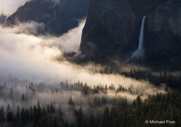 16. Fog, sunlight, and Bridalveil Fall