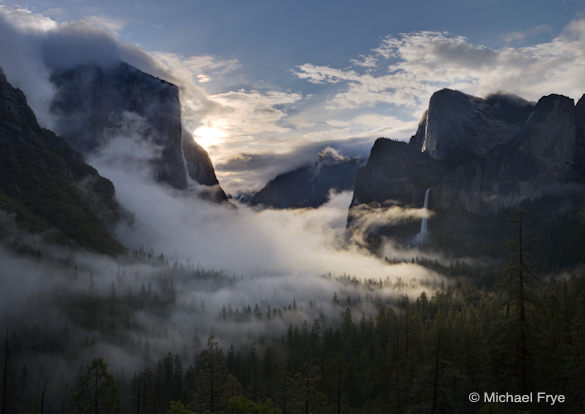 17. Swirling mist at sunrise from Tunnel View