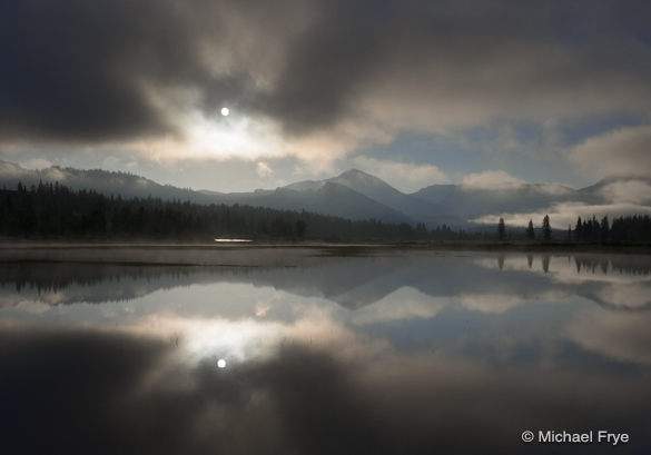 22. Sun Breaking through mist, Tuolumne Meadows,