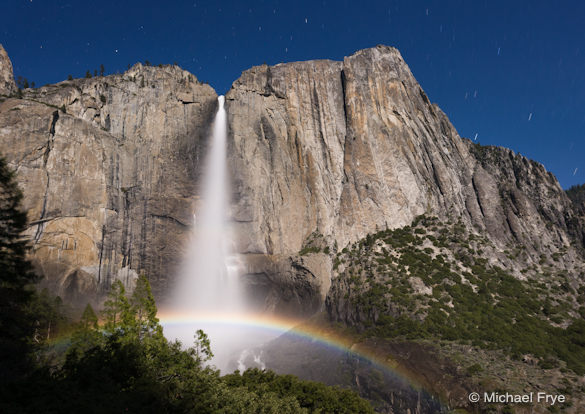 Lunar Rainbow, Upper Yosemite Fall