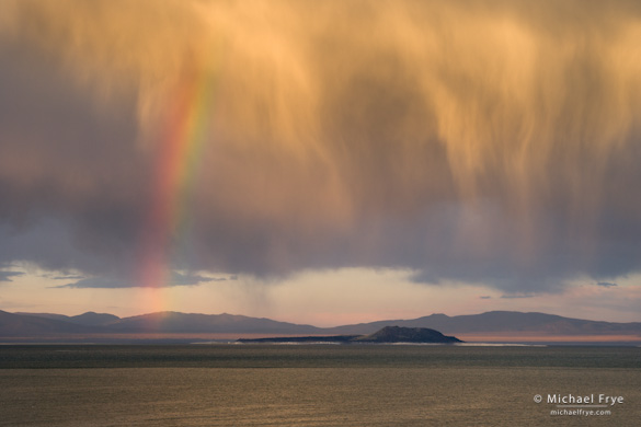 Rainbow over Mono Lake