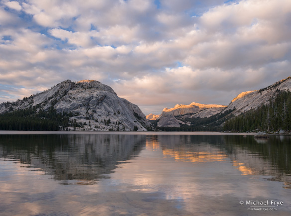 Clouds and reflections, Tenaya Lake, Yosemite
