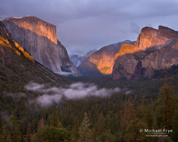 Autumn sunset from Tunnel View, October 4th, 2009