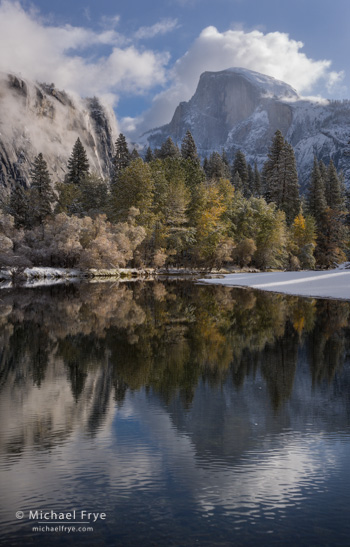 Half Dome and the Merced River, Saturday, 8:52 a.m.
