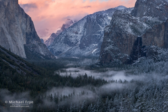 Sunset from Tunnel View, Saturday, 4:48 p.m.