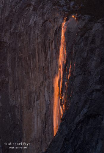Horsetail Fall at sunset, Yosemite NP, CA, USA