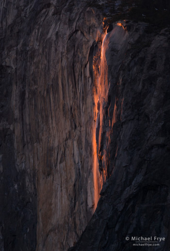 Horsetail Fall at 5:34 p.m. yesterday
