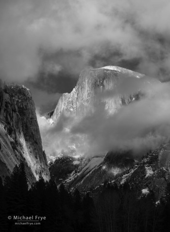 Half Dome and clouds, Yosemite NP, CA, USA