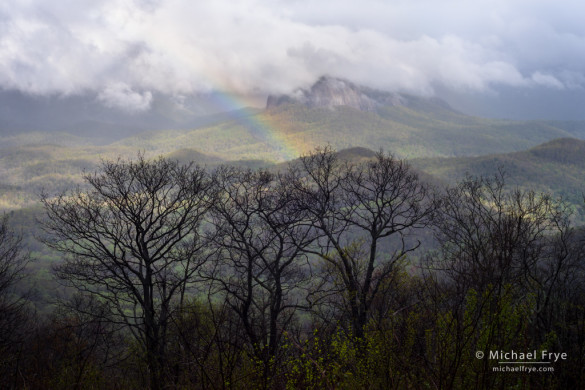 Rainbow and Looking Glass Rock from the Blue Ridge Parkway, NC, USA