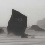 Sea stacks and mist, Redwood NP, CA, USA
