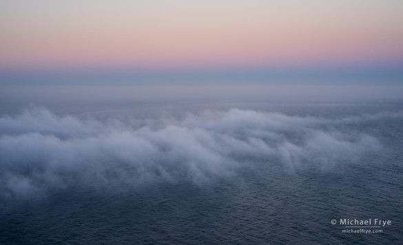 Fog over the Pacific Ocean, Redwood NP, CA, USA