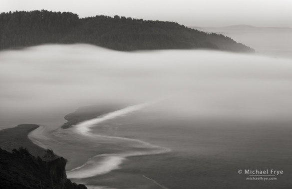 Fog at the mouth of the Klamath River, Redwood NP, CA, USA