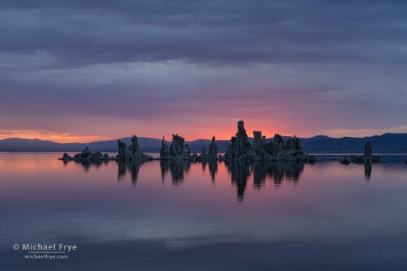 Sunrise at South Tufa, Mono Lake, CA, USA