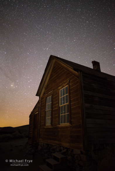 Metzger House at night, Bodie SHP, CA, USA