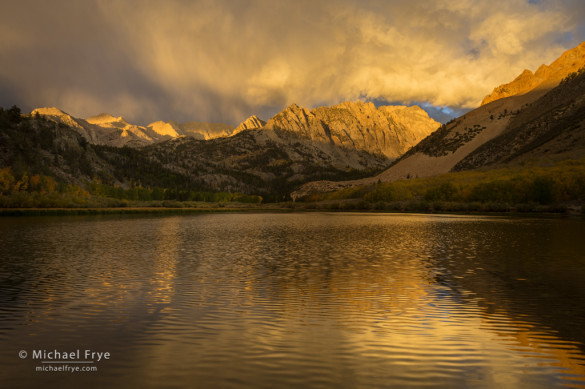 Stormy sunrise at North Lake, Bishop Creek Canyon, Inyo NF, CA, USA