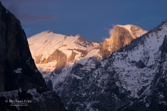 Half Dome at sunset from Tunnel View, Yosemite NP, CA, USA