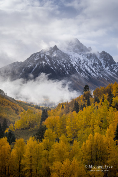 Clearing autumn storm with Mt. Sneffels, near Ridgeway, CO, USA