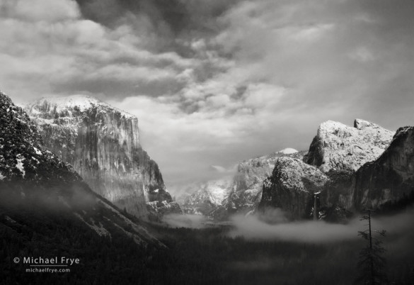 Clearing storm from Tunnel View, Yosemite NP, CA, USA