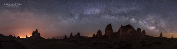 Trona Pinnacles and the Milky Way, Trona Pinnacles National Natural Landmark, CA, USA