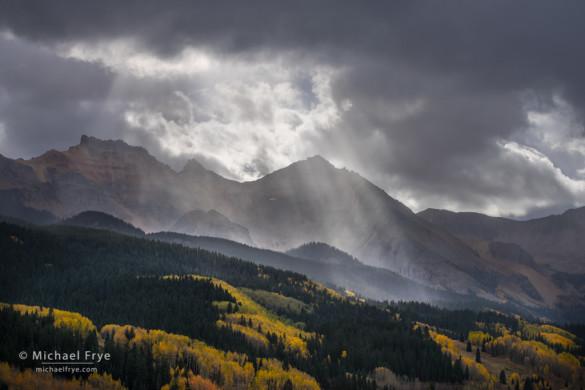 Sunbeams, San Juan Mountains, CO, USA