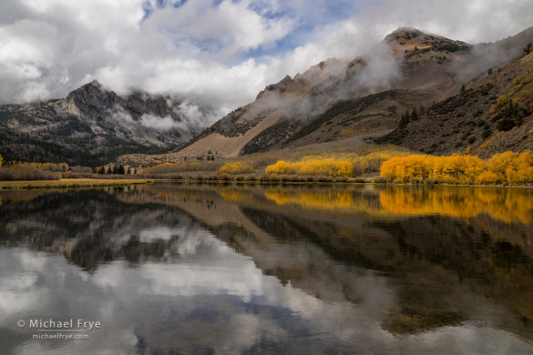 Clearing storm, autumn, North Lake, Inyo NF, CA, USA