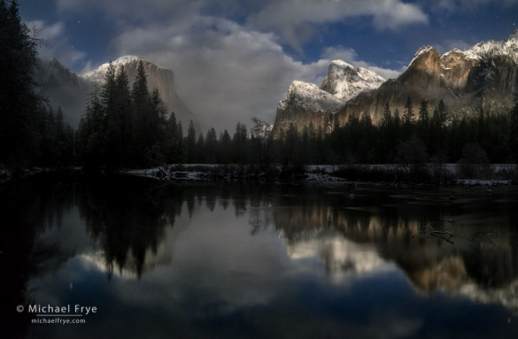 Gates of the Valley by moonlight, Yosemite NP, CA, USA